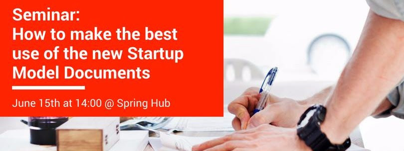 How to make the best use of the Startup Model Documents Tallinn
