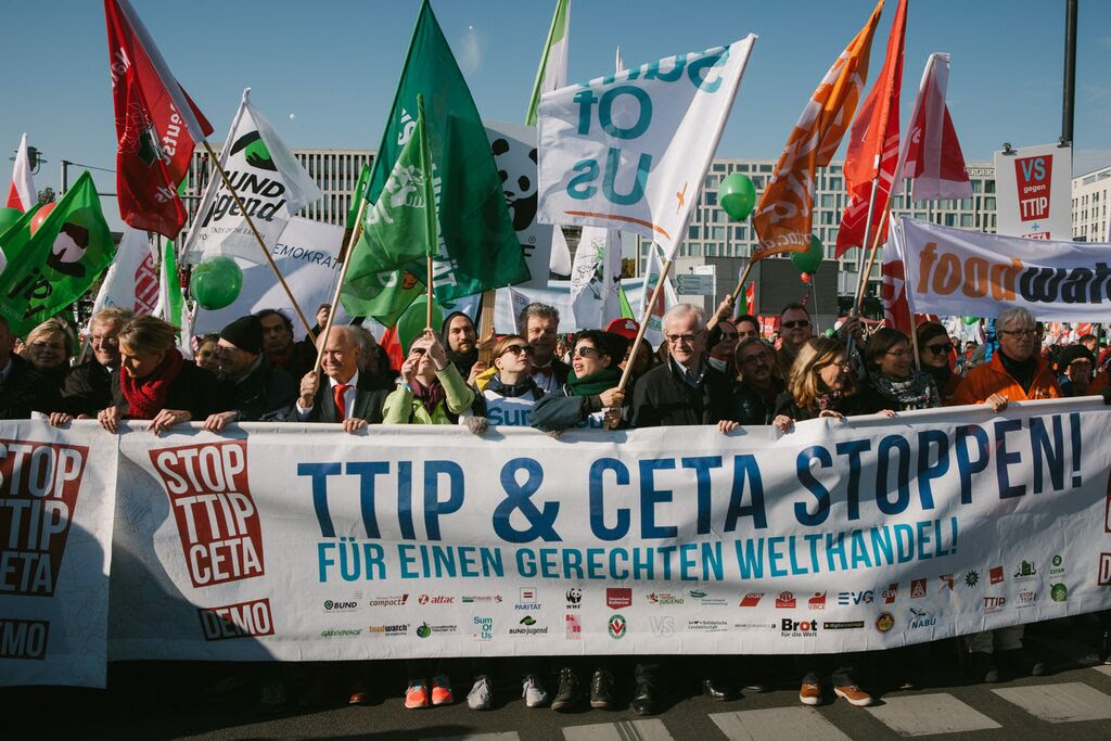 Manifestation contre le CETA et le TAFTA