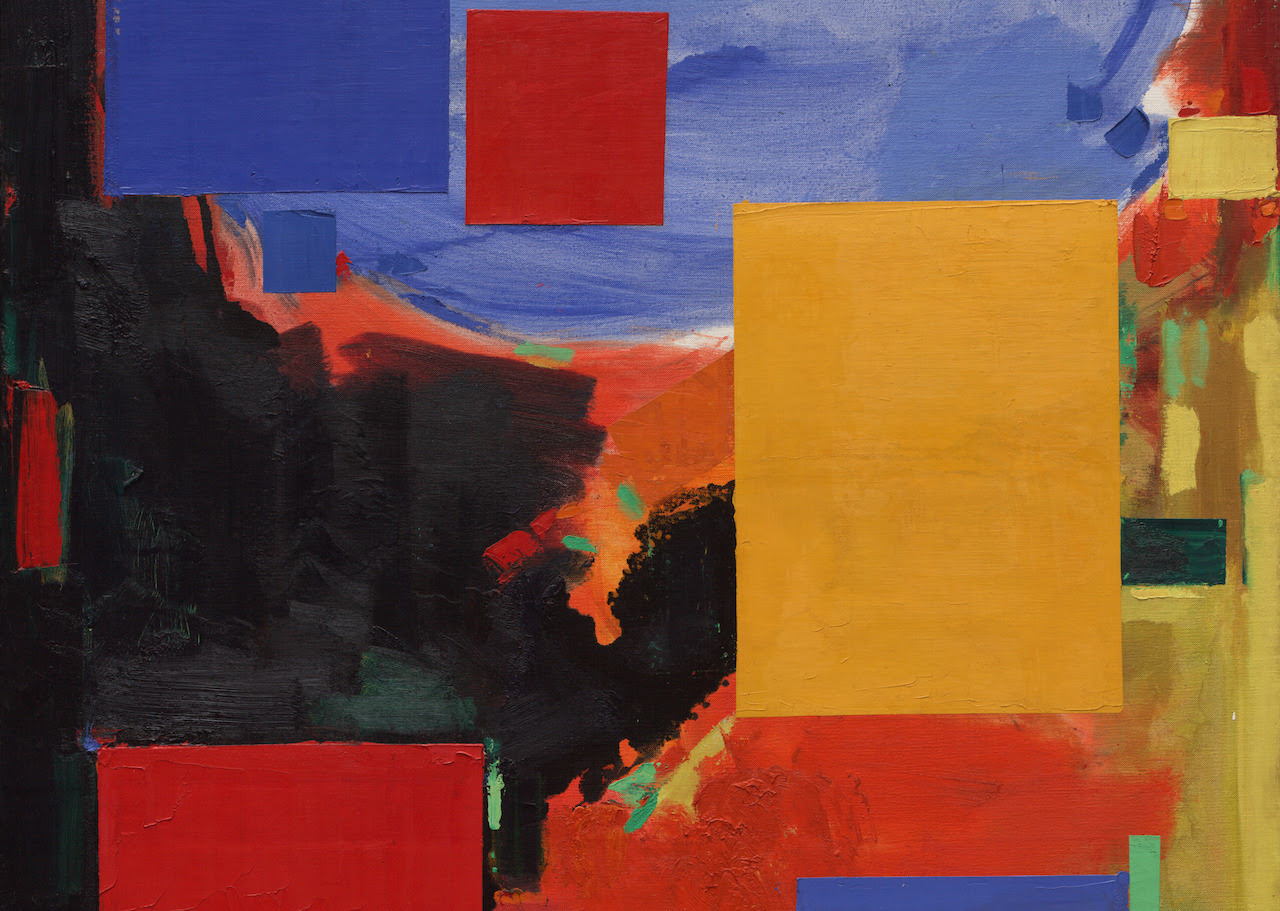 Hans Hofmann, Goliath (Detail), 1960; oil on canvas; 84 1/8 x 60 in.; University of California, Berkeley Art Museum and Pacific Film Archive; gift of the artist, 1966. © The Regents of the University of California, photography by Ben Blackwell.