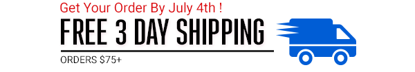 Free 3 day shipping on 75+
