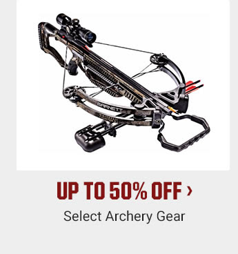 UP TO 50% OFF - Select Archery Gear | SHOP NOW