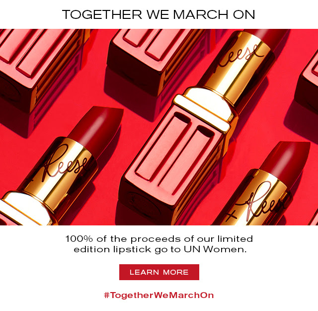 TOGETHER WE MARCH ON  100% of the proceeds of our limited  edition lipstick go to UN Women.   LEARN MORE  #TogetherWeMarchOn