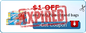 $1.00 off any TWO Ziploc brand bags