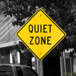 2006-08-23 - Road Trip - Day 31 - United States - Oklahoma - Route 66 - Missouri - Quiet Zone - Cutout - Sign - Yellow
