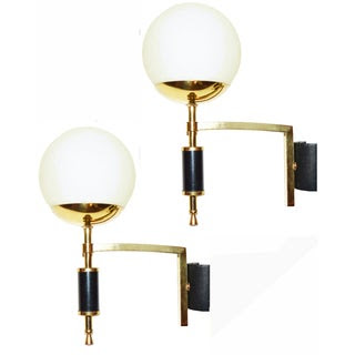 Image of French Maison Arlus Sconces - A Pair
