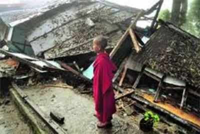North sikkim destruction boy