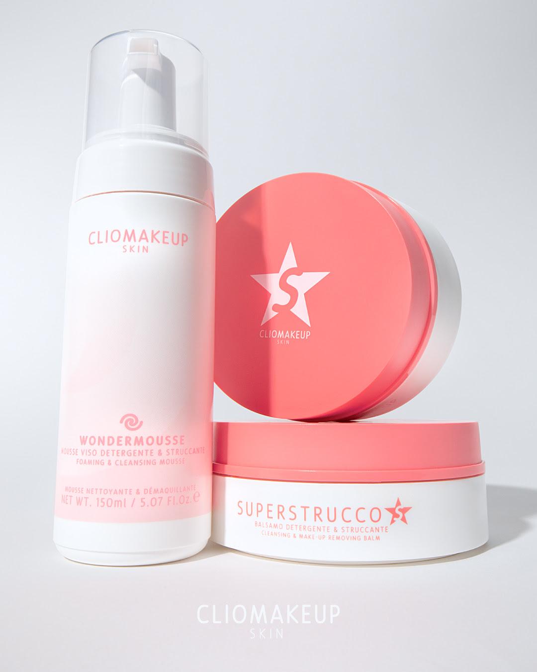 cliomakeup skin kit doppia detersione superstrucco wondermousse