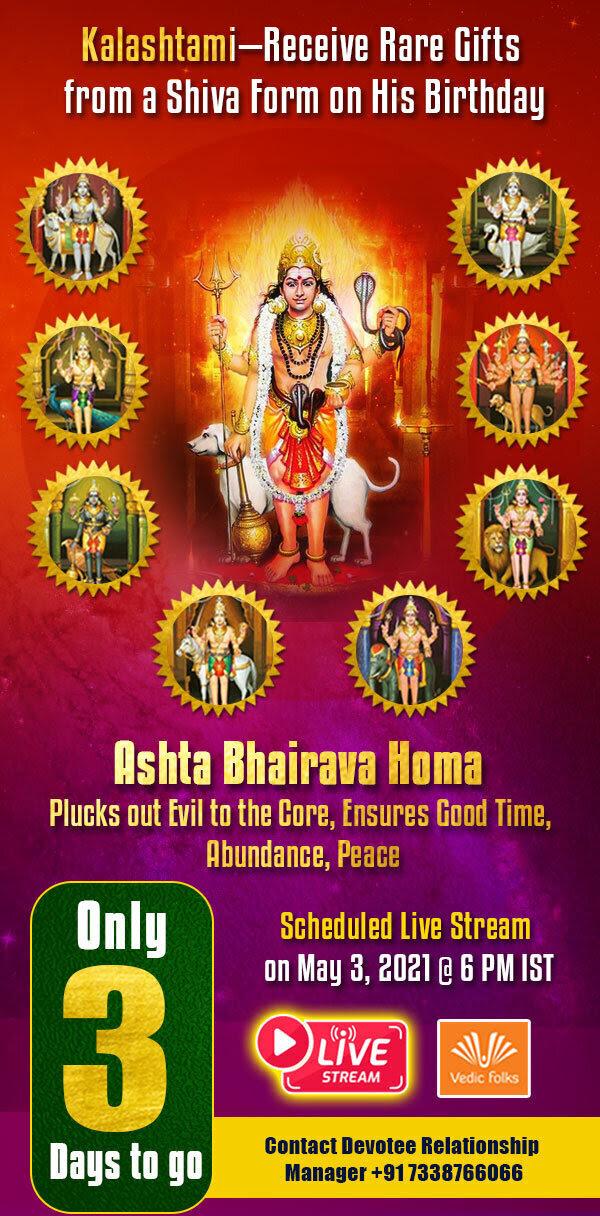 Exclusive Live Stream Kalashtami special Ashta Bhairava Homam