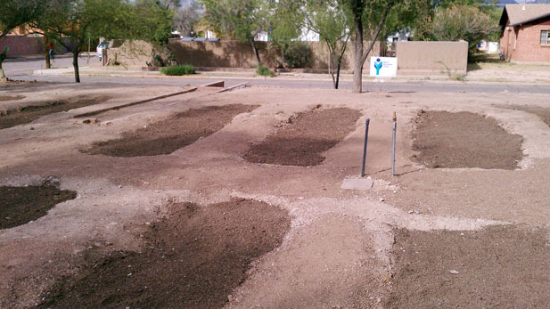 A modern Waffle Garden! University of Arizona plans a simple Community Garden that saves water.