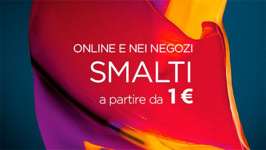 Online e nei negozi smalti a partire da 1€