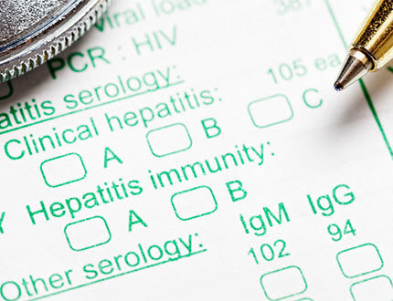picture of hepatitis test