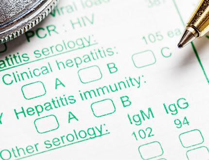 picture of hepatitis test