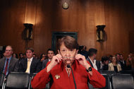 Mary Jo White, chairwoman of the Securities and Exchange Commission. The S.E.C. used to handle the bulk of insider trading cases.