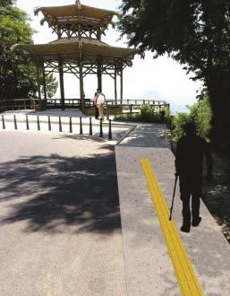 A Vista Chinesa, mirante da Floresta da Tijuca, terá pisos táteis para cegos