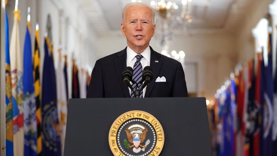 All Americans over 18 will be eligible for the vaccine by May, Biden says