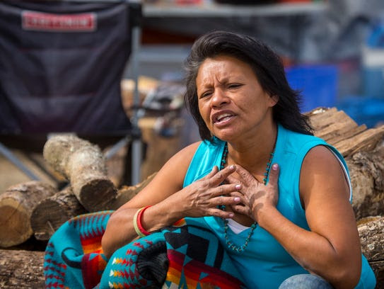 Blue Star Woman, 48, of the Crow Creek Sioux explains