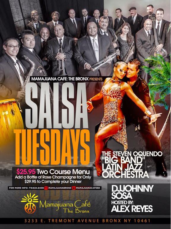 salsa tuesday en Mamajuana Bronx