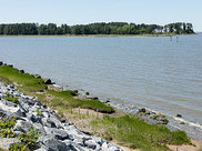 A shoreline restoration project in York County, Virginia, at the Naval Weapons Station Yorktown's Cheatham Annex.