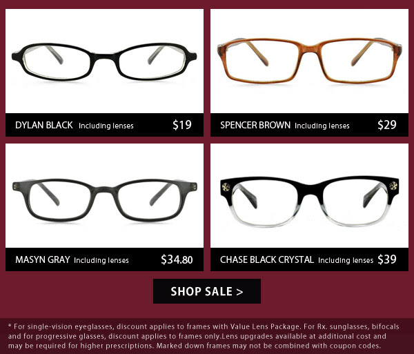 Save Up to 50% OFF On A Wide Selections of Styles + Free Shipping (US) On Orders Over $75 at GlassesUSA.com