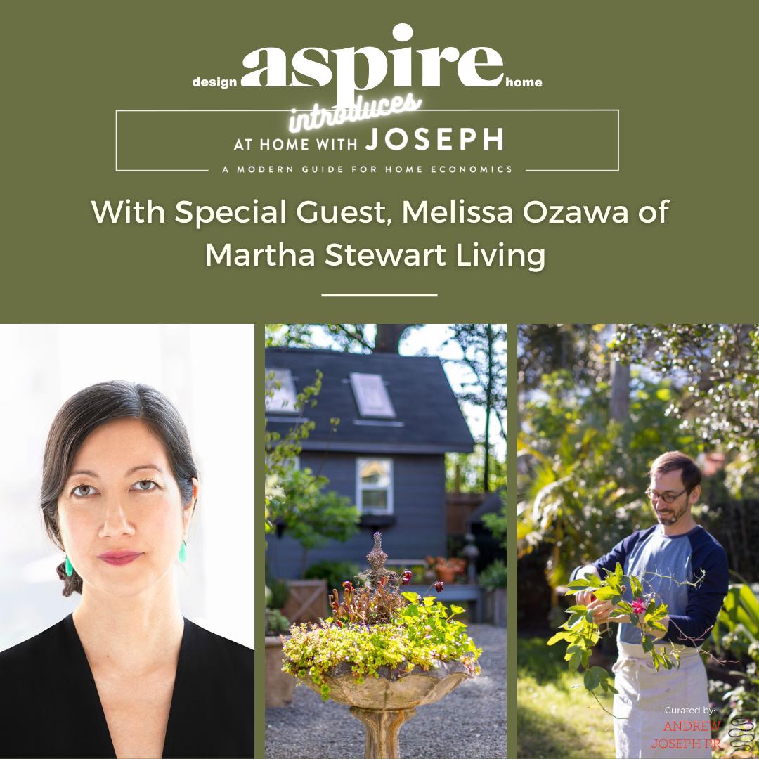 ASPIRE DESIGN AND HOME:Q&A with Melissa Ozawa,contributing editor of Martha Stewart Living Magazine