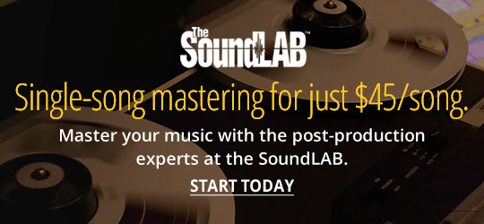 Single-song mastering for just $45/song.Master your music with the post-production experts at the SoundLAB.