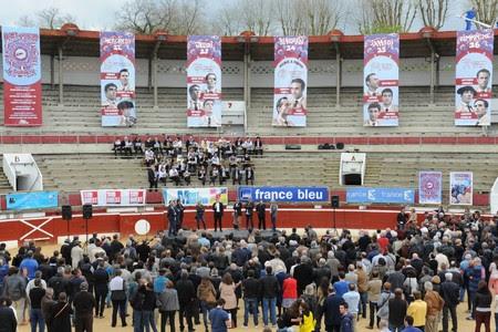 image : vue des arènes lors de annonce cartels 2015