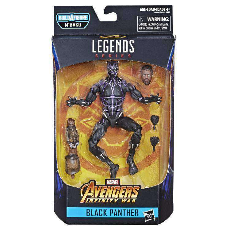 Image of Black Panther Marvel Legends Wave 2 (M'Baku BAF) - Vibranium Black Panther - FEBRUARY 2019