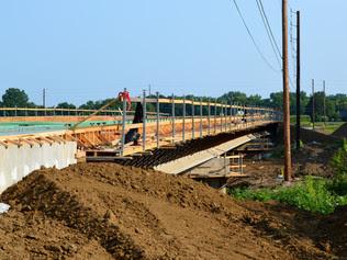 Access road bridge over Pleasant Run Creek