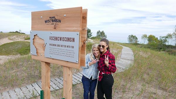 Selfie Stand at Kohler-Andrae State Park