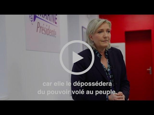 Inscription sur les listes électorales : l'appel de Marine Le Pen