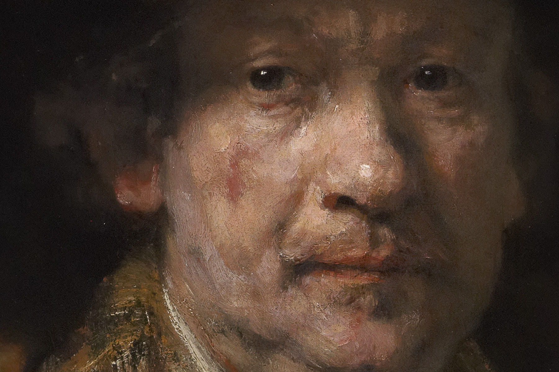 Rembrandt van Rijn (Dutch, 1606–1669), Self-Portrait (detail)