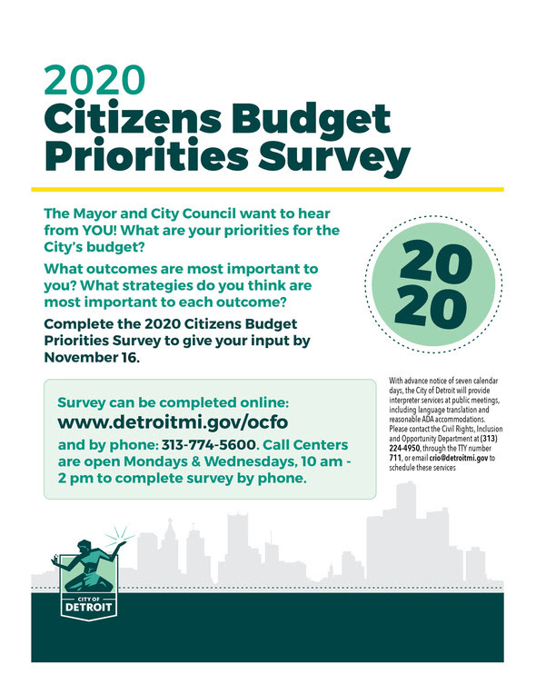 Citizens Budget Survey Extended