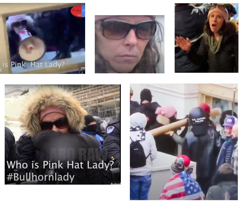 IGNORED BY THE MEDIA ELITES AND FBI: List of 20 Individuals at the Capitol on January 6th – All Appear to be Connected to Antifa or Far Left Groups Most-Wanted-7-Girl-with-Pink-Hat-and-Bull-Horn