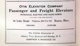Otis Elevator ad, Boston Directory, 1914