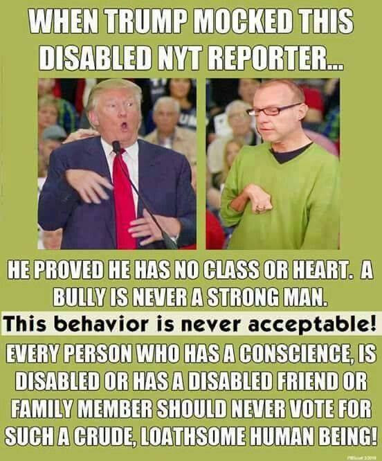 TRUMP AND DISABLED