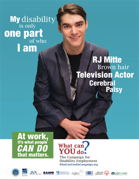 RJ Mitte, TV actor, brown hair, cerebral palsy, My disability is only one part of who I am