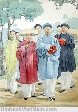 Đám cưới người Việt Nam xưa.