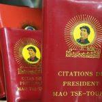 """Les """"Citations du Président Mao Tse-toung"""", plus connues en Occident sous le nom de Petit livre rouge. (Crédits : GUIZIOU Franck / hemis.fr / Hemis / via AFP)"""