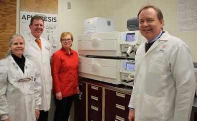 Doctors Near New Blood System Machine