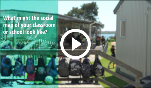 Social mapping video screenshot and play button