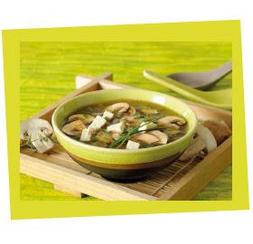 La soupe perles d'Asie au tamari