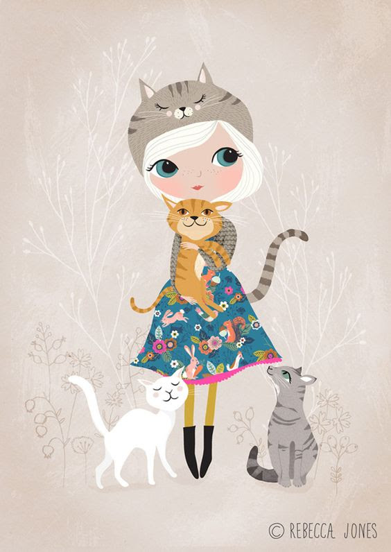 marr-tb: &ldquo;A cat loving girl, wearing a dress made from my Cuckoo Folk fabric. (Rebecca Jones&atilde;&#129;&#139;&atilde;&#130;&#137<img src=