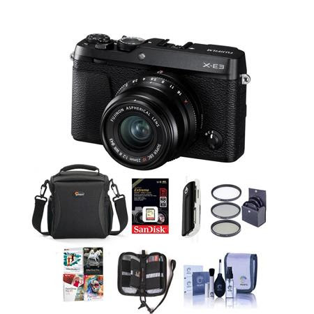 X-E3 Mirrorless Camera with XF 23mm f/2 R WR Lens, Black - Bundle With e With Camera Case,
