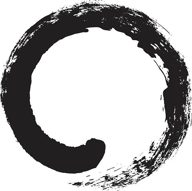 enso – japanese zen circle calligraphy - buddha vector stock illustrations