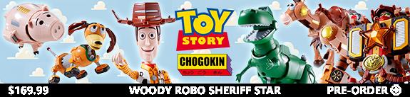 Toy Story Chogokin Combination Woody Robo Sheriff Star