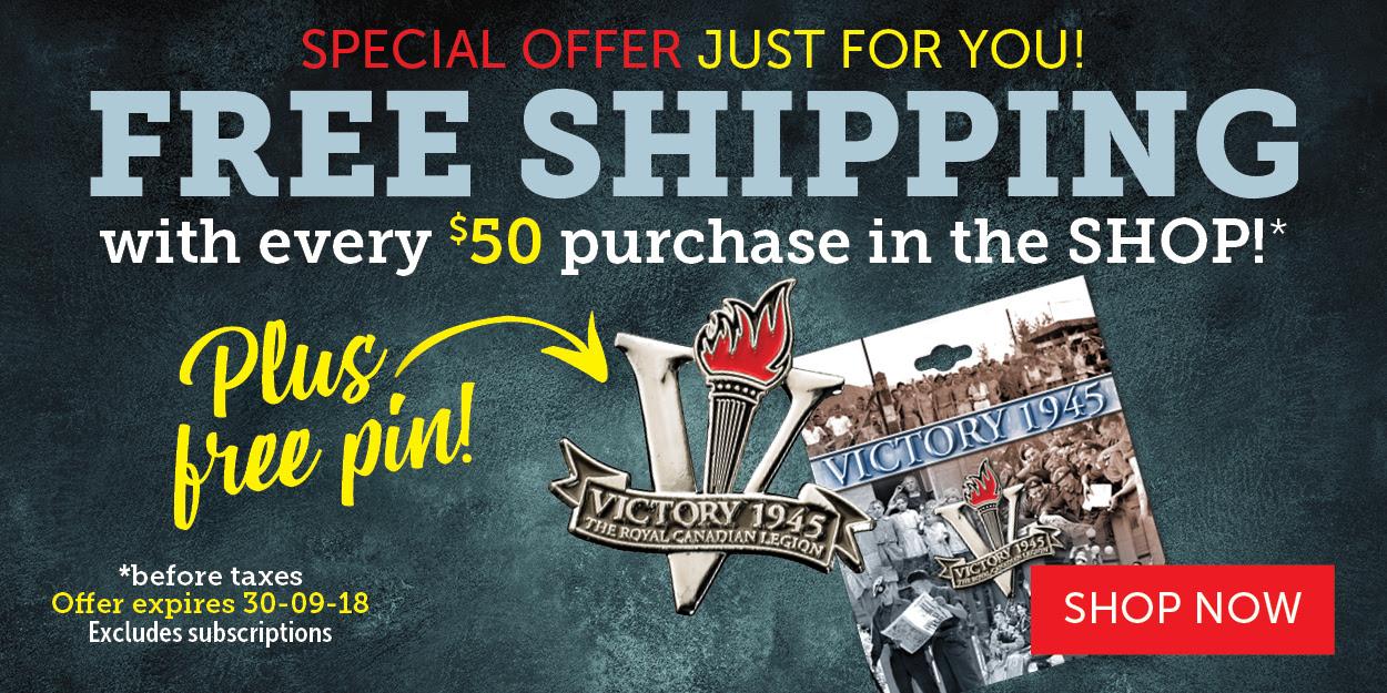 FREE SHIPPING! And FREE WW II VICTORY PIN!