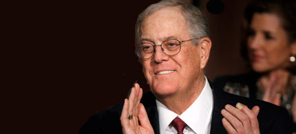 David Koch. (photo: Brendan Mcdermid/Reuters)