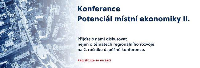 Pozvánka na konferenci Potenciál místní ekonomiky II.