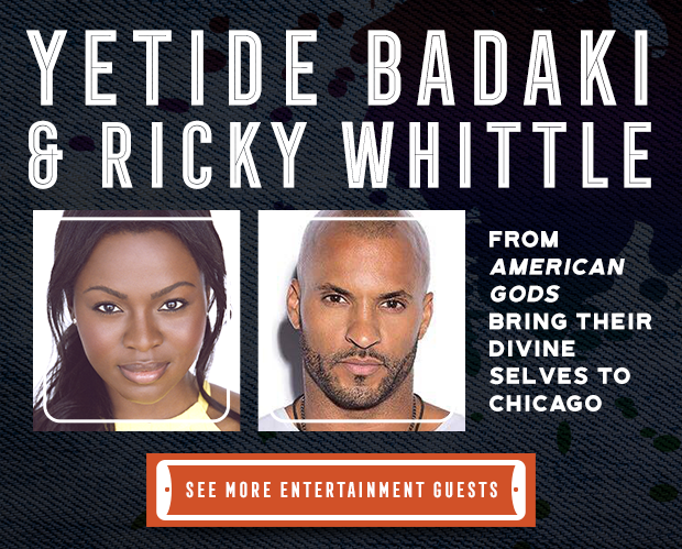 Yetide Badaki and Ricky Whittle are coming to C2E2