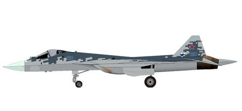 Herpa Wings 1:200 1:72 | Sukhoi Sukhoi T-50 (SU57) Prototype, 'Pixel colour Scheme' (die-cast no stand) | is due: January / February 2020